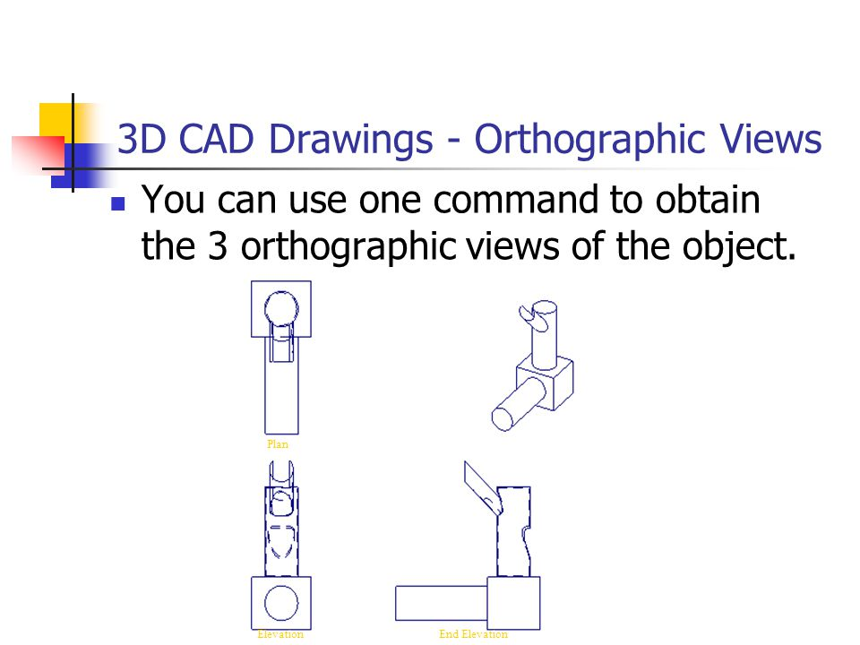 3D CAD Drawings - Orthographic Views