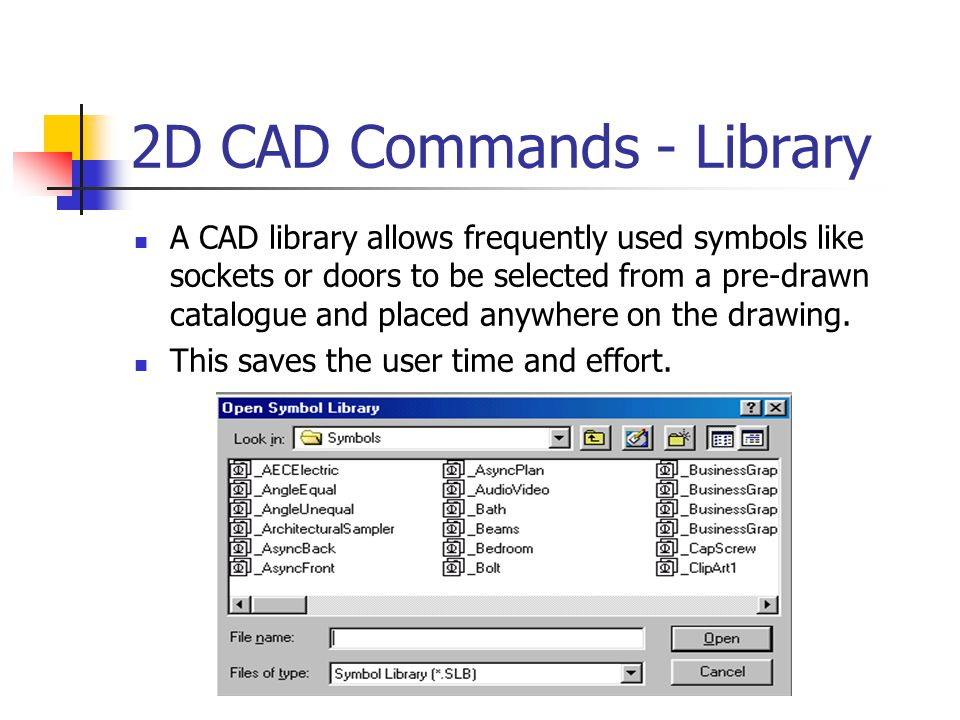 2D CAD Commands - Library