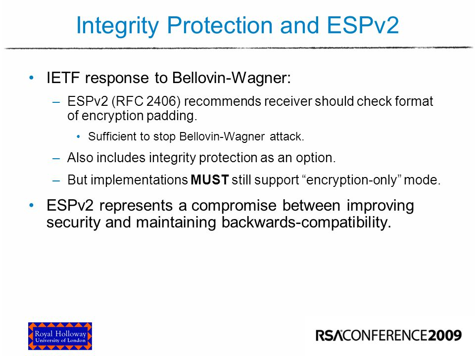 Integrity Protection and ESPv3