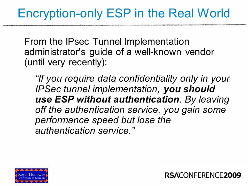 Attacking Encryption-only ESP