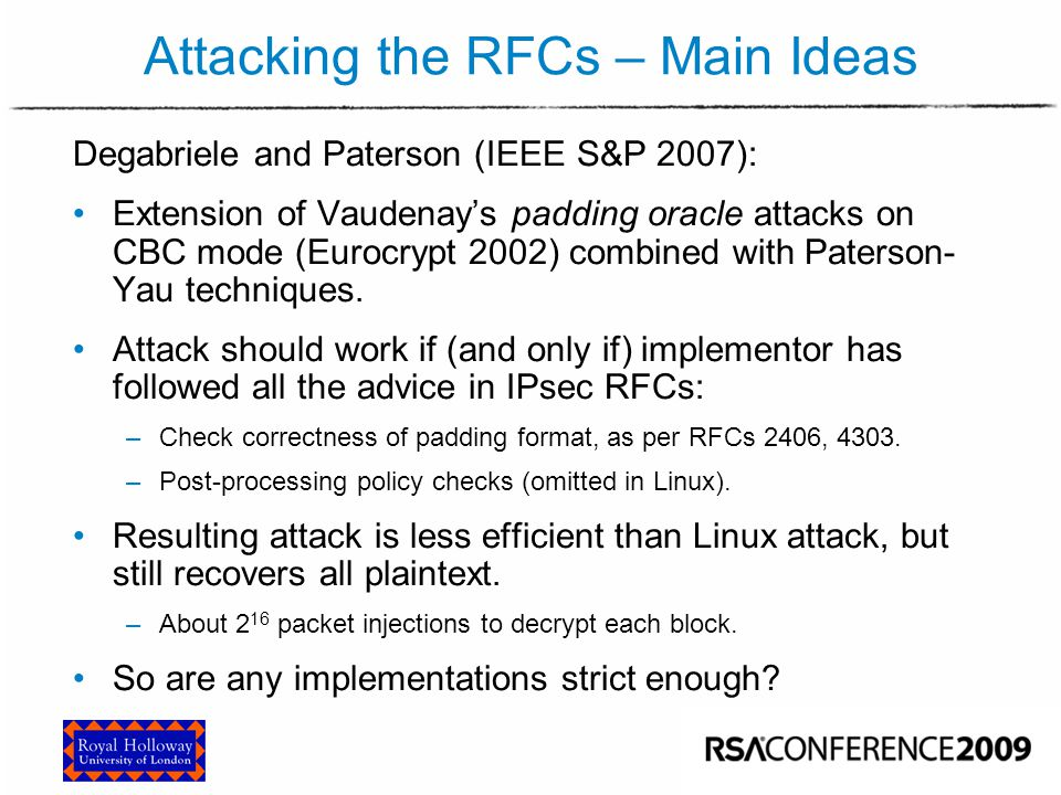 Implementing the RFC Attack