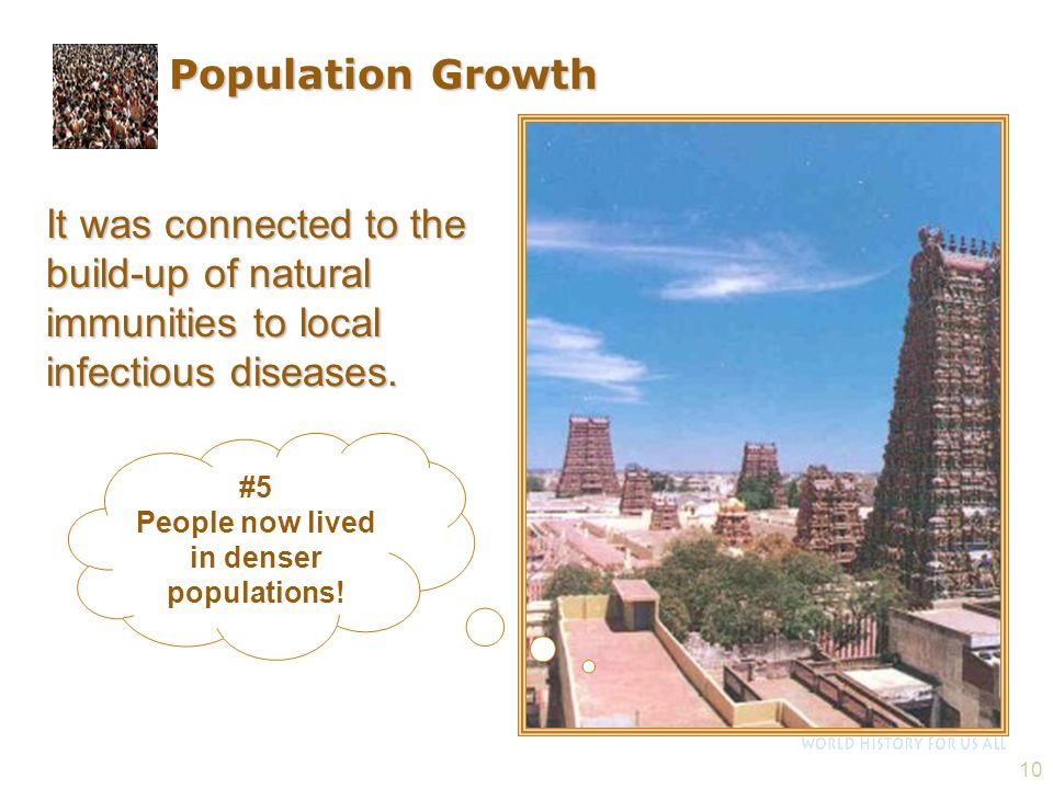 People now lived in denser populations!