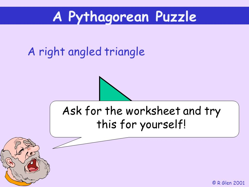 Ask for the worksheet and try this for yourself!