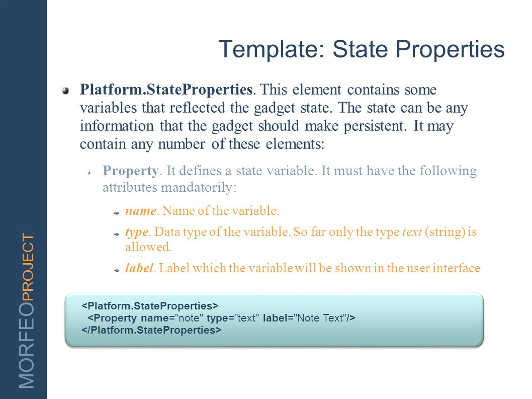 Template: State Properties