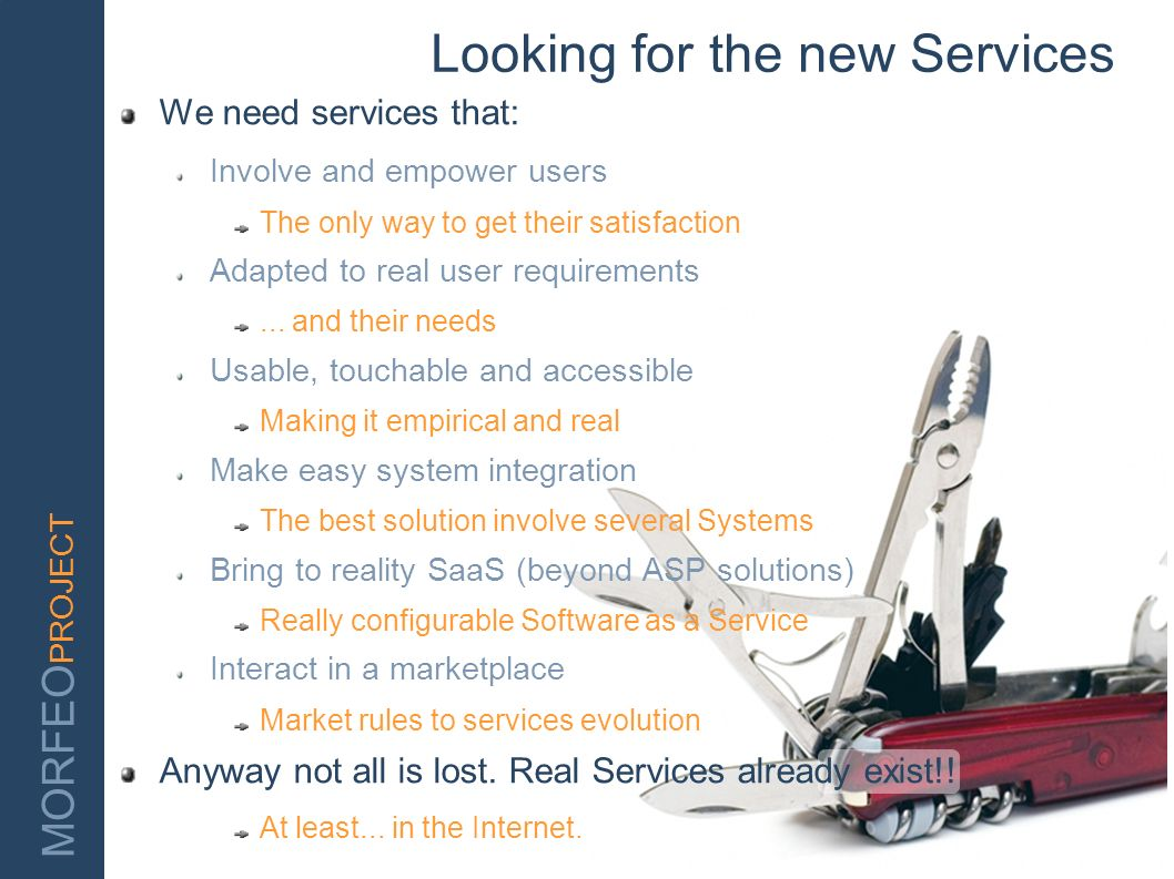 Looking for the new Services