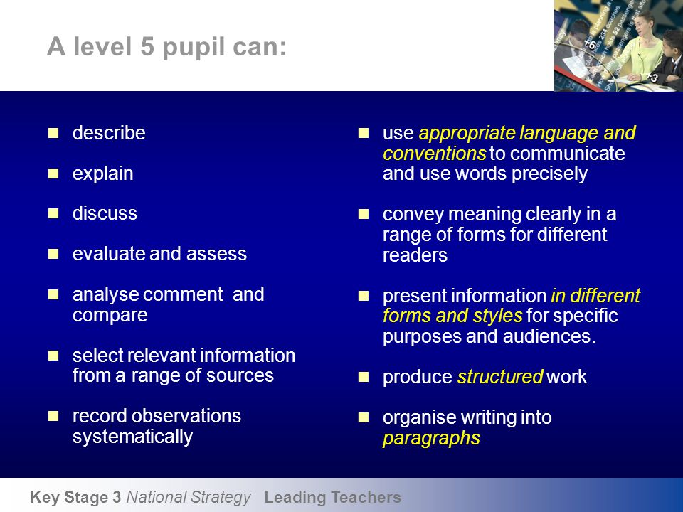 Literacy across the curriculum 2001-2004