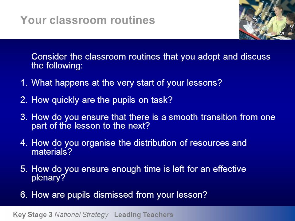 Effective classroom routines