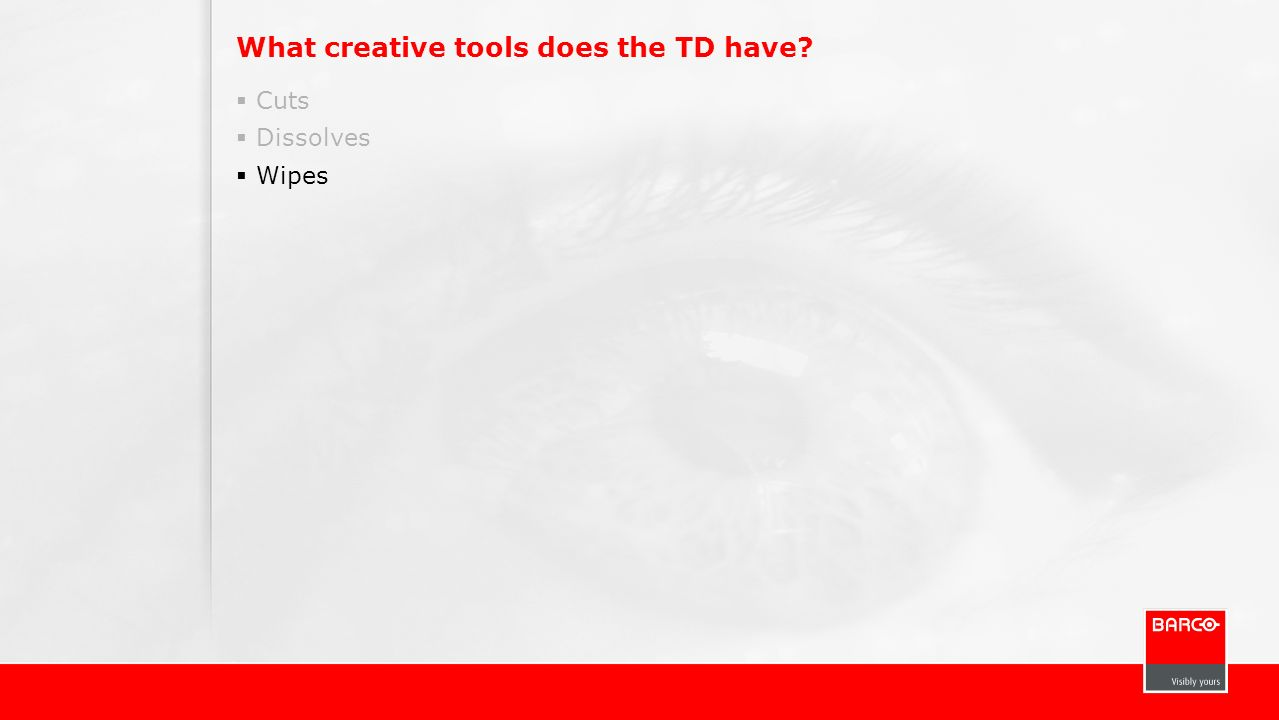 What creative tools does the TD have