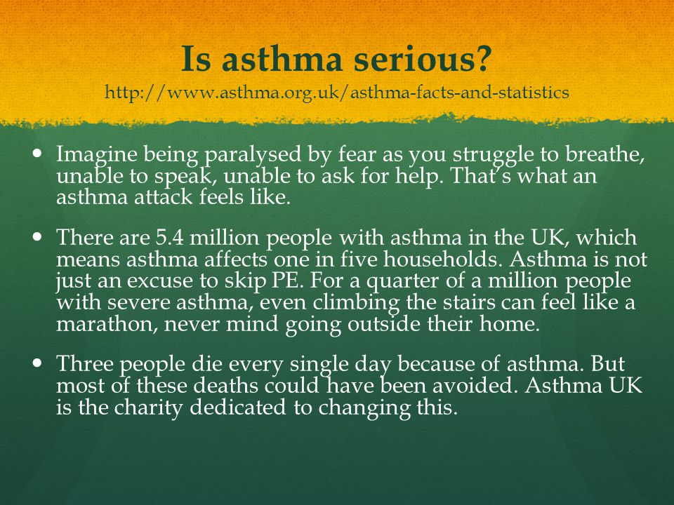 Is asthma serious. http://www. asthma. org