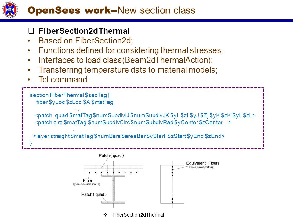 OpenSees work--New section class