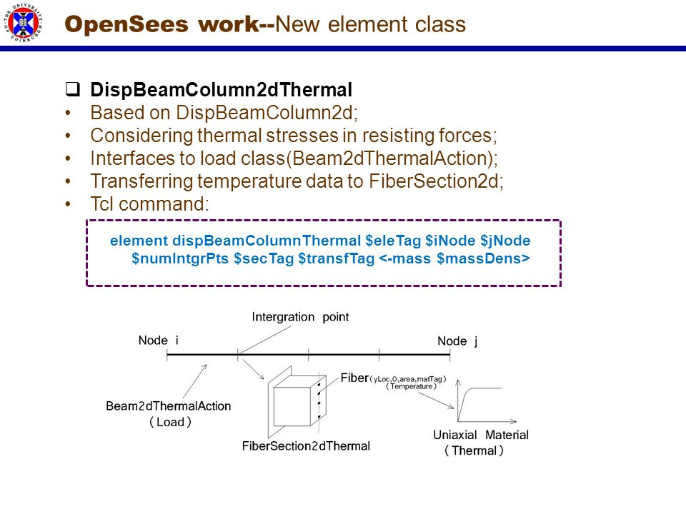 OpenSees work--New element class