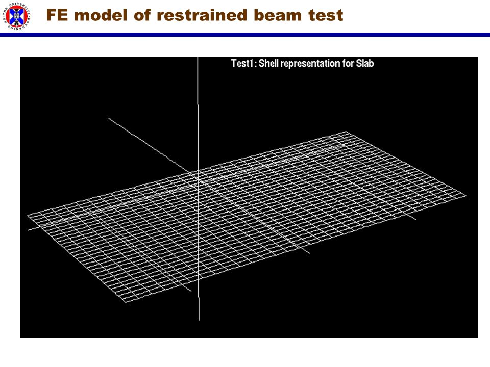 FE model of restrained beam test