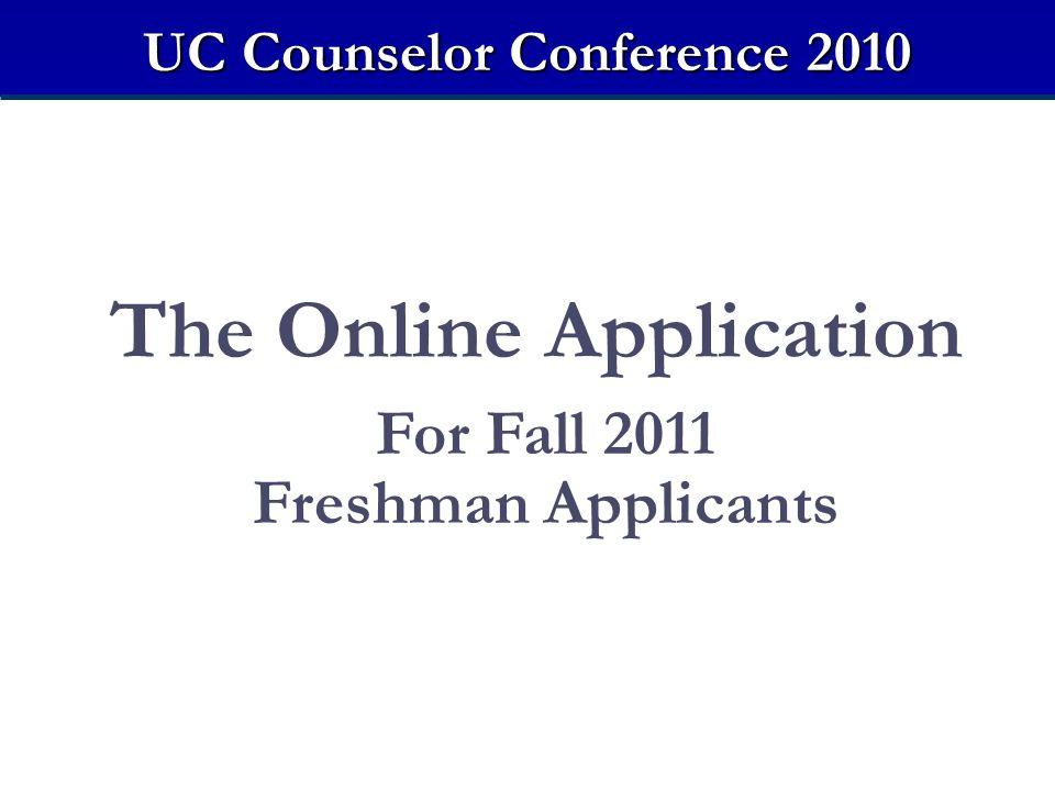 The Online Application