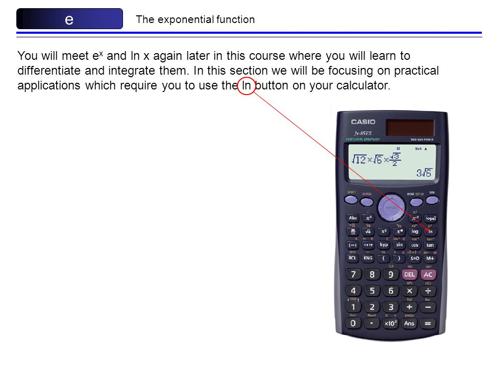 how to use the ln function on a calculator