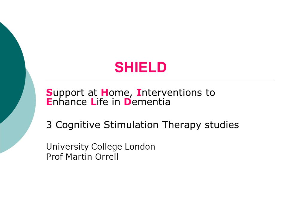 SHIELD Support at Home, Interventions to Enhance Life in Dementia