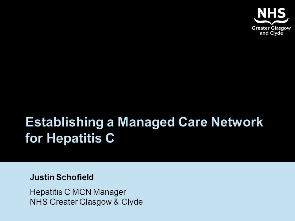 Establishing a Managed Care Network for Hepatitis C