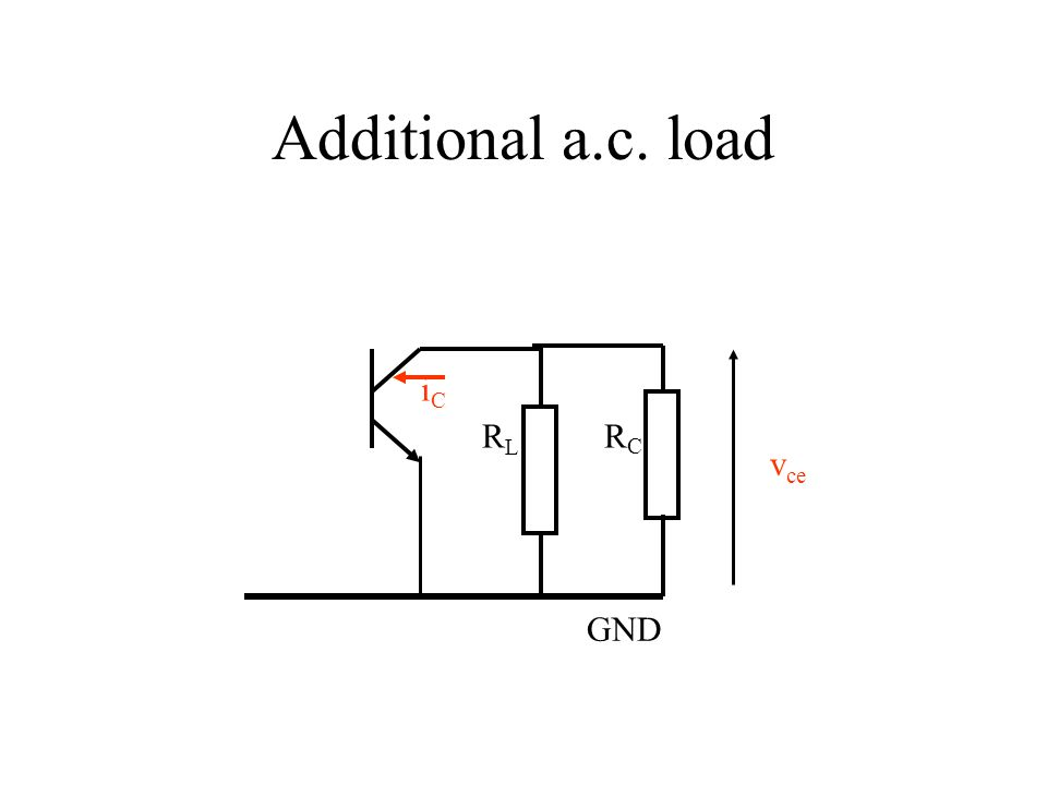 Additional a.c. load iC RL RC vce GND