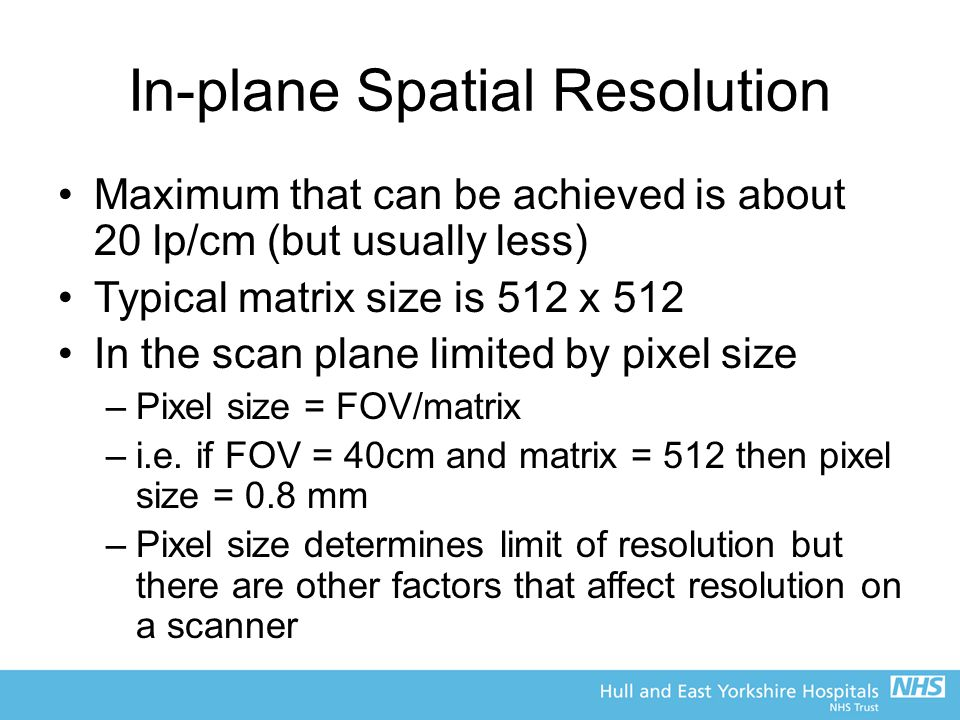 In-plane Spatial Resolution
