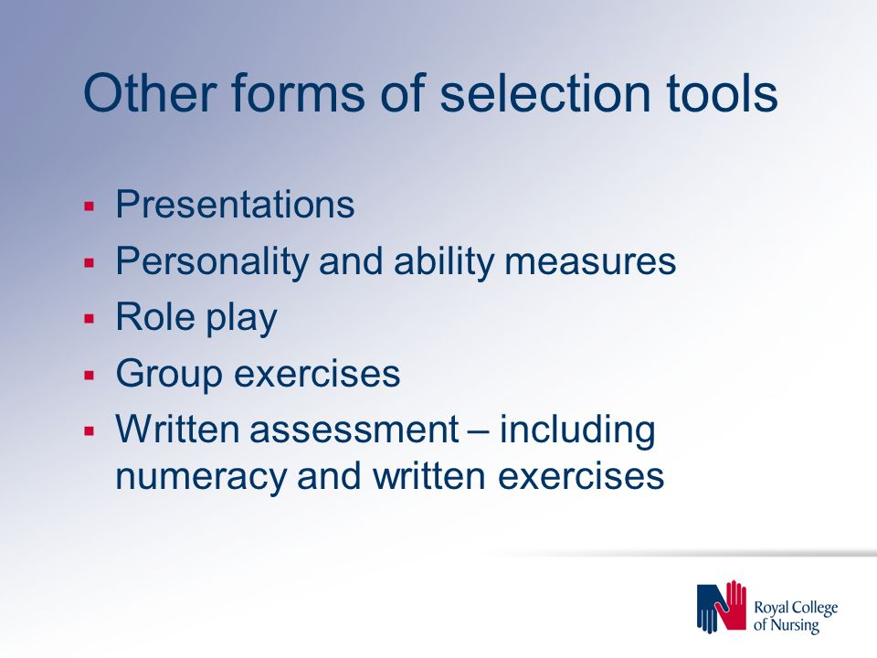 Other forms of selection tools