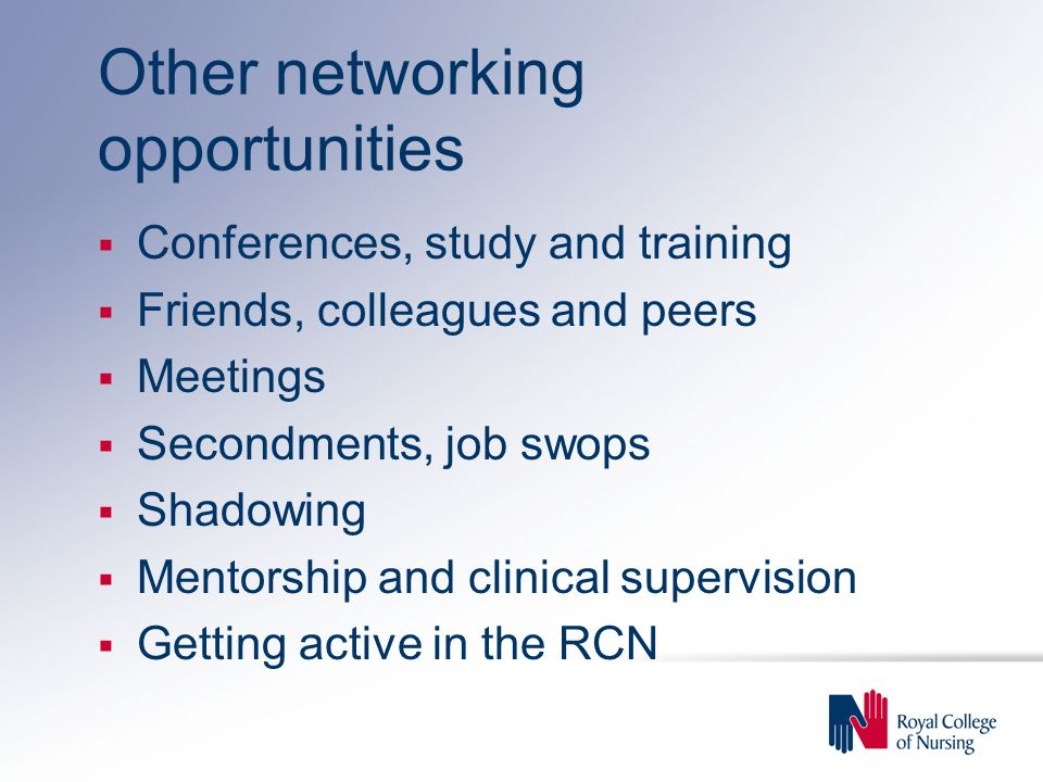 Other networking opportunities