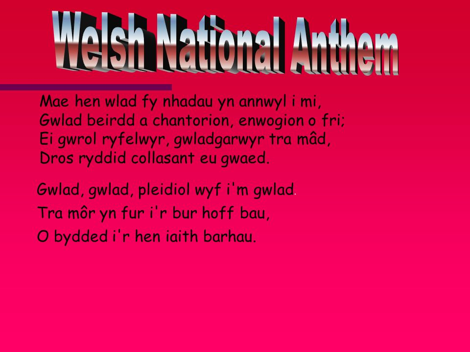 Welsh National Anthem