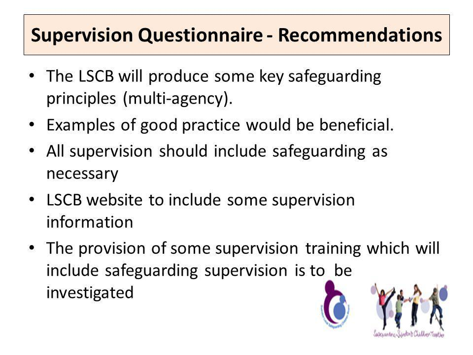 Supervision Questionnaire - Recommendations