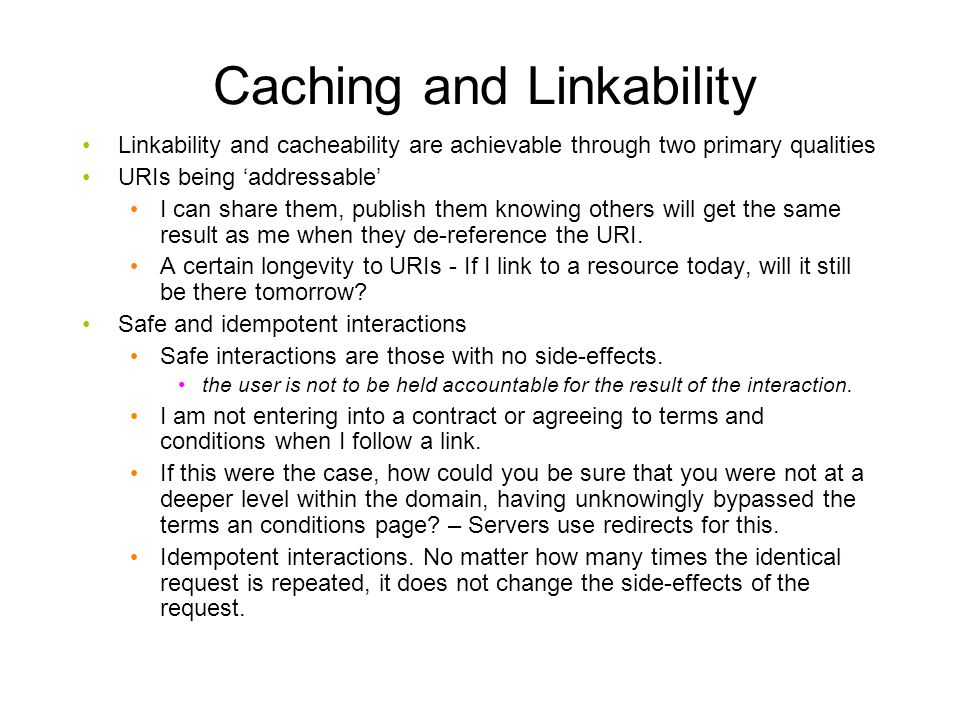 Caching and Linkability