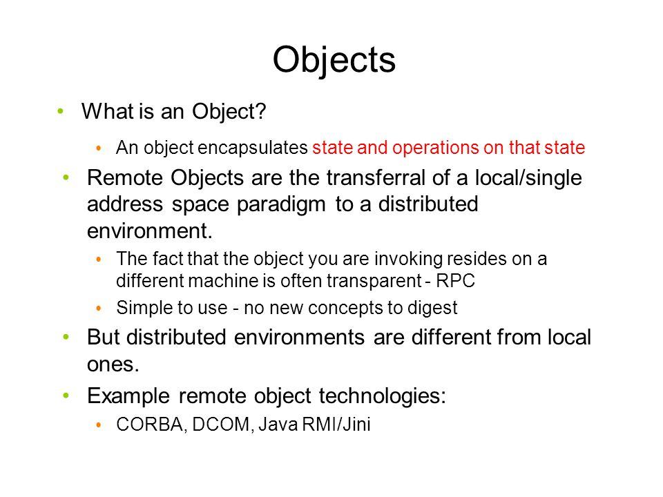 Objects What is an Object