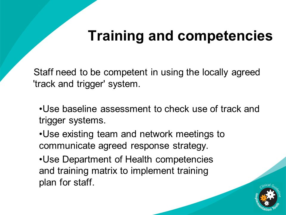 Training and competencies