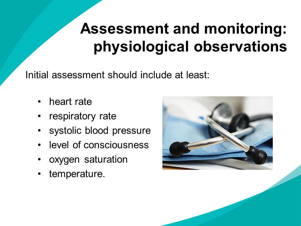 Assessment and monitoring: physiological observations