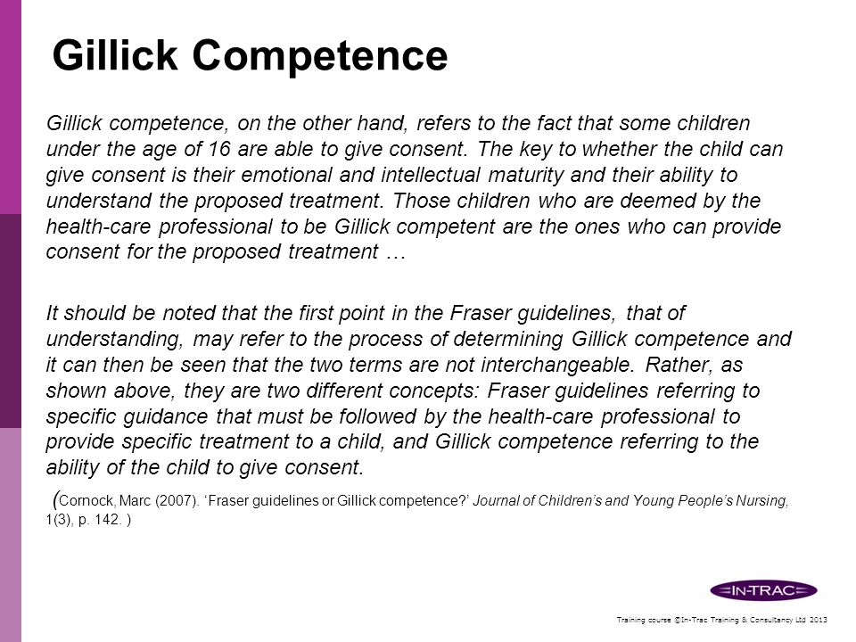 Gillick Competence