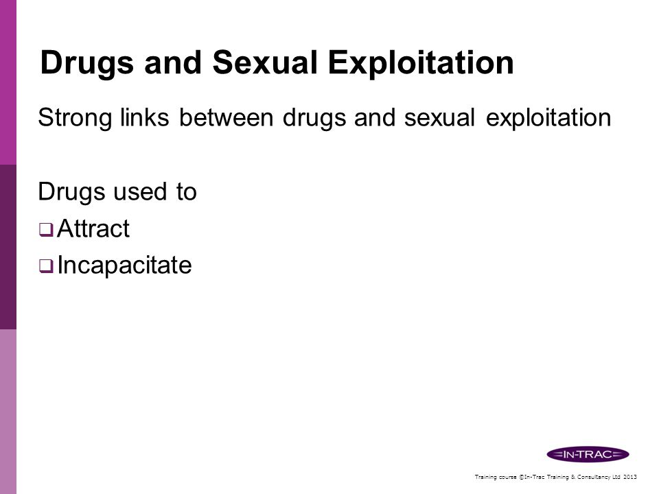 Drugs and Sexual Exploitation