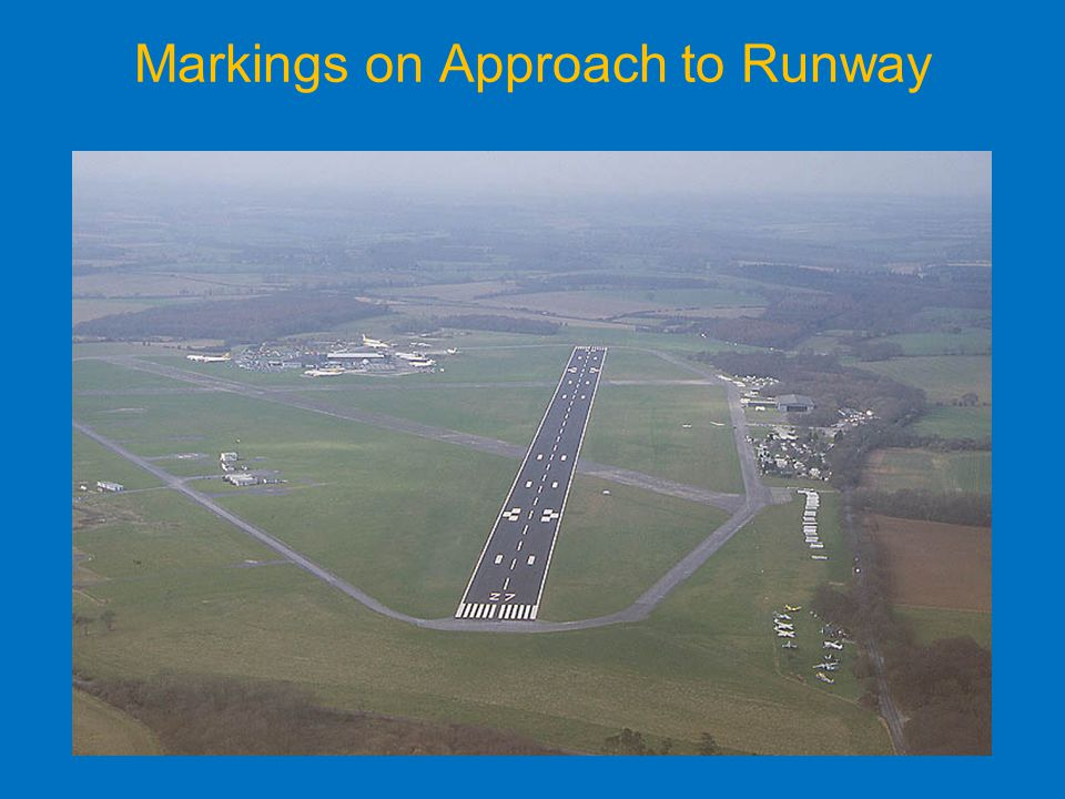 Markings on Approach to Runway