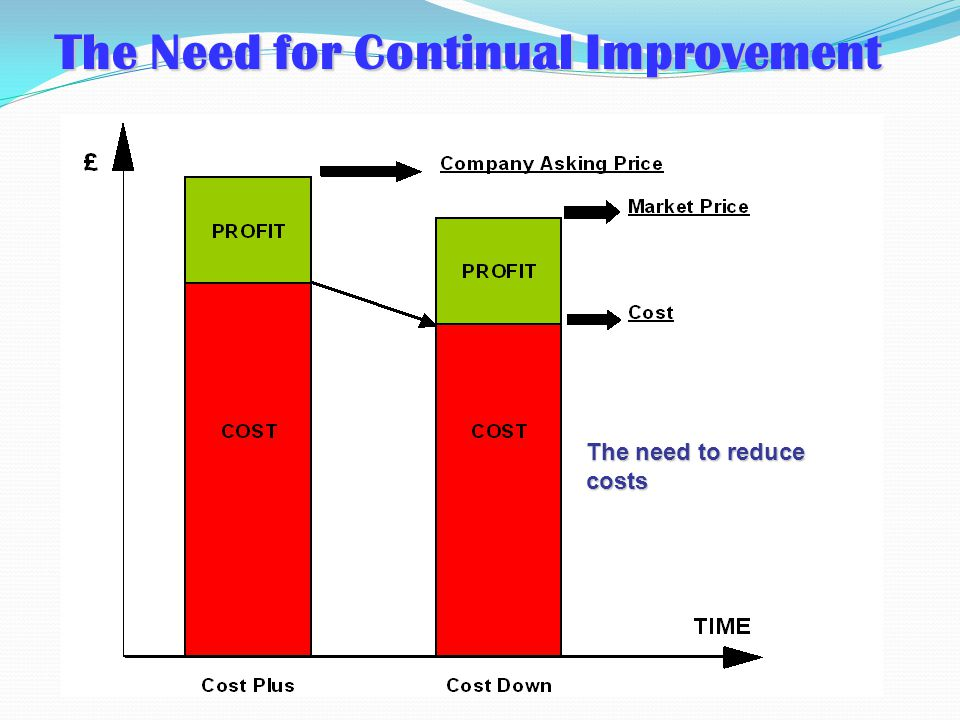 The Need for Continual Improvement
