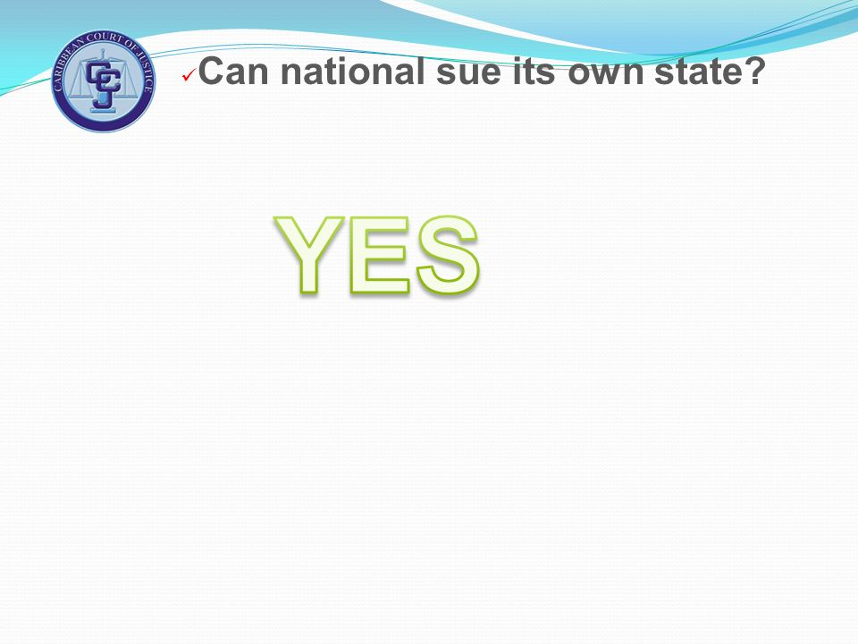 Can national sue its own state