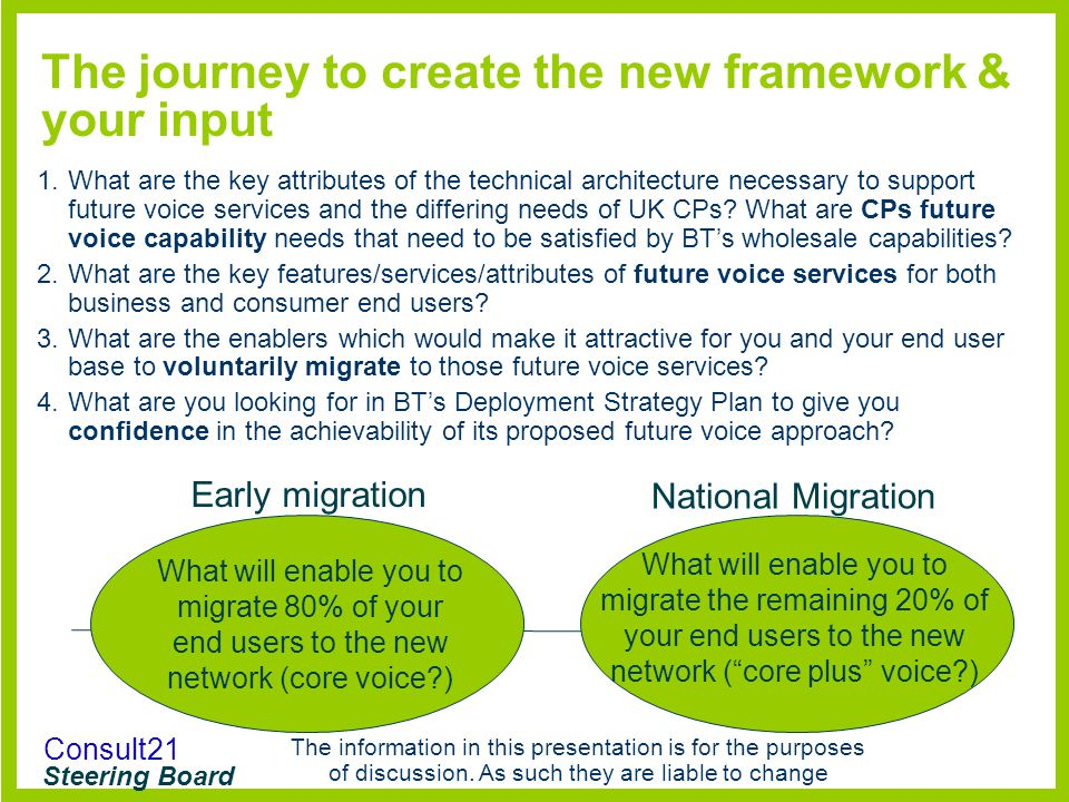 The journey to create the new framework & your input