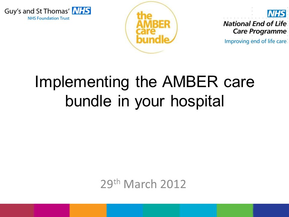 Implementing the AMBER care bundle in your hospital