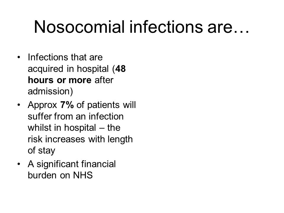 Nosocomial infections are…
