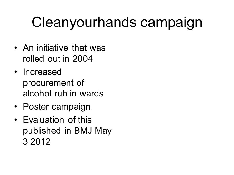 Cleanyourhands campaign
