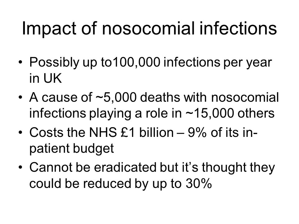 Impact of nosocomial infections