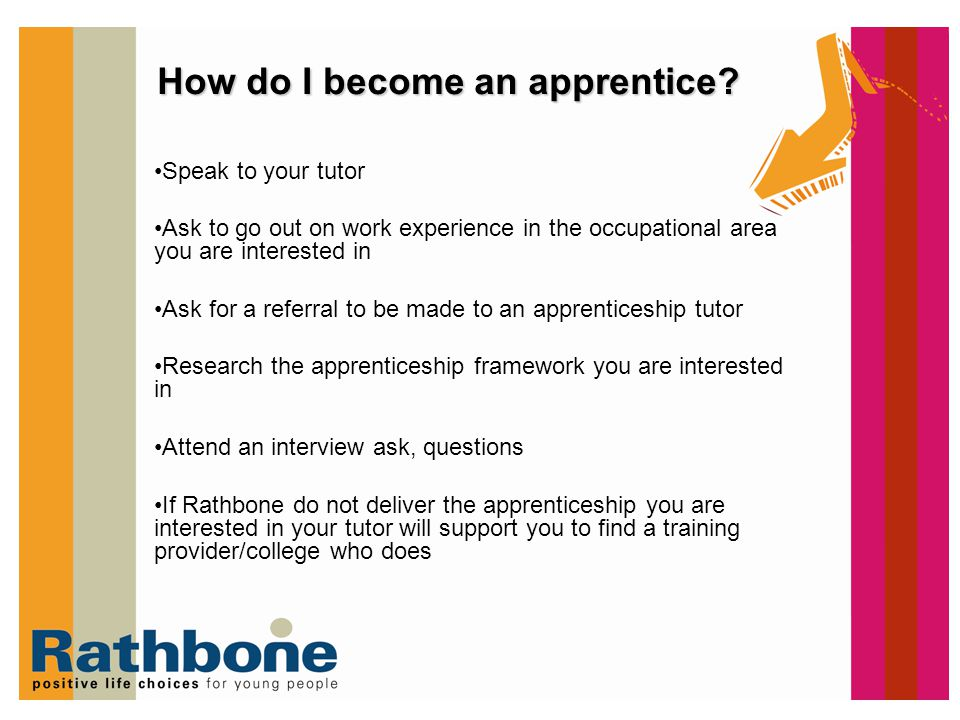 how to become indentured apprentice