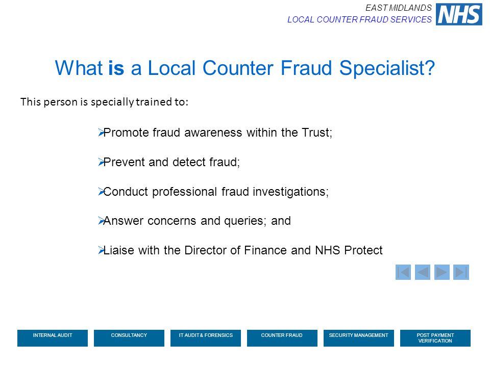 What is a Local Counter Fraud Specialist