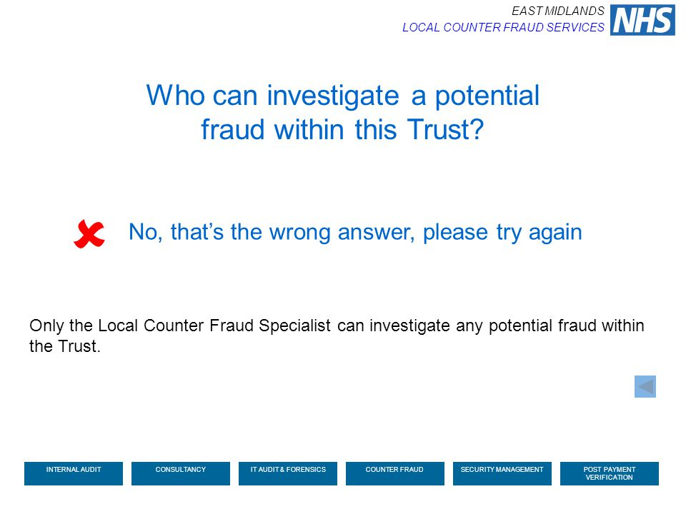  Who can investigate a potential fraud within this Trust