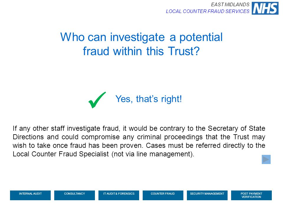  Who can investigate a potential fraud within this Trust