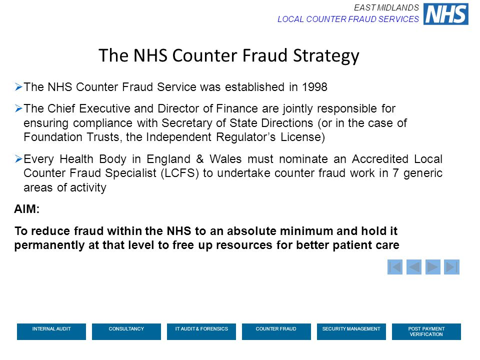 The NHS Counter Fraud Strategy