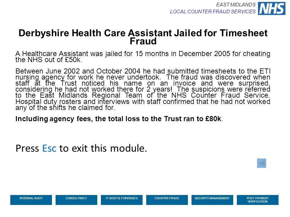 Derbyshire Health Care Assistant Jailed for Timesheet Fraud