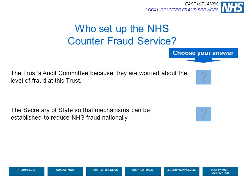 Who set up the NHS Counter Fraud Service