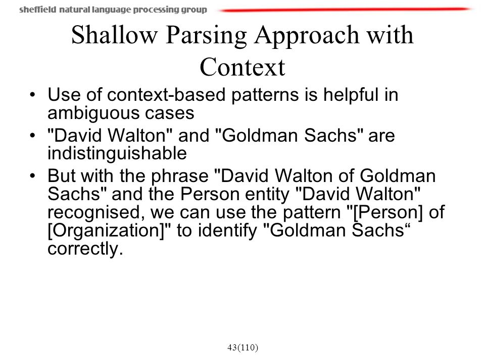 Shallow Parsing Approach with Context