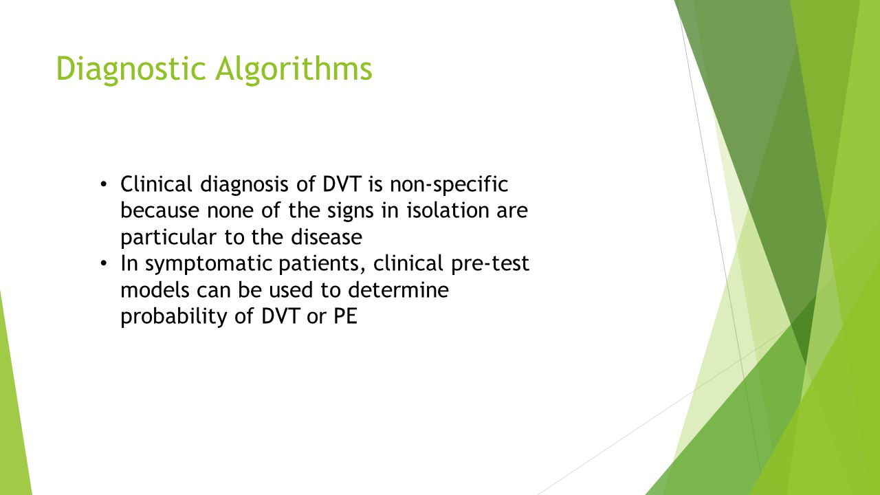 Diagnostic Algorithms