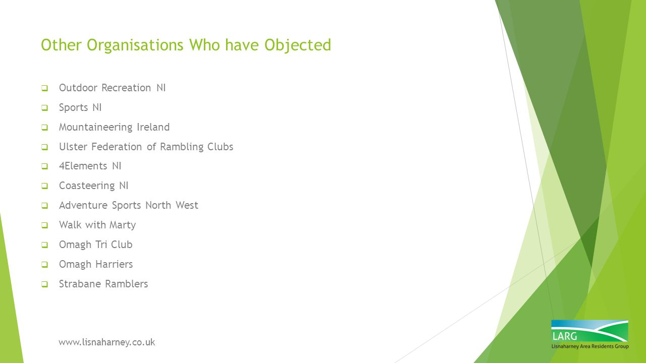 Other Organisations Who have Objected